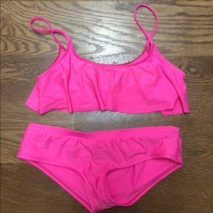 Free People hot pink bikini TOP